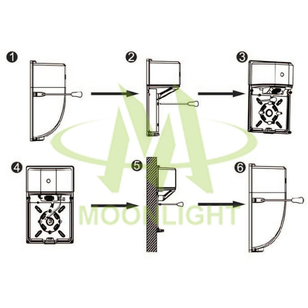 LED Wall Pack Housing MLT-WPH-CS-II Wall Mounting