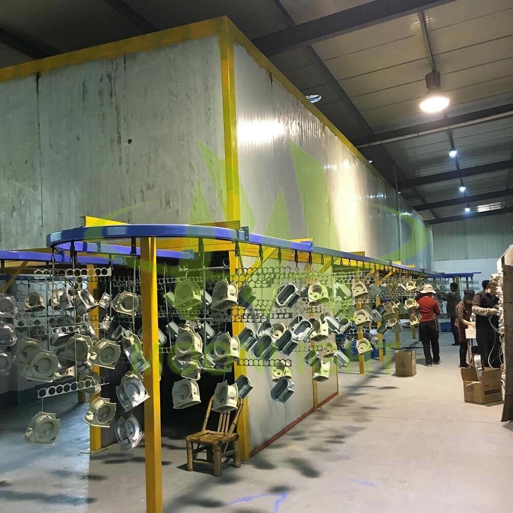Powder Coating Workshop for LED Light Housing